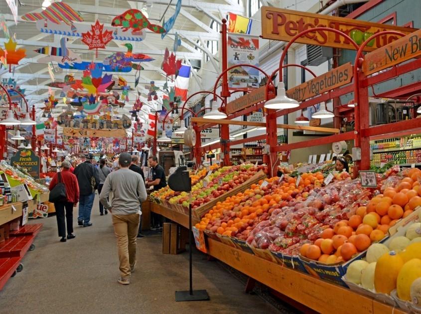 Chợ Thành phố ở Saint John, New Brunswick.